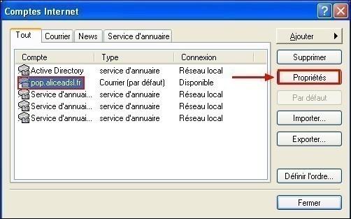 Configurer Outlook Express pour conserver une copie des messages recus 1