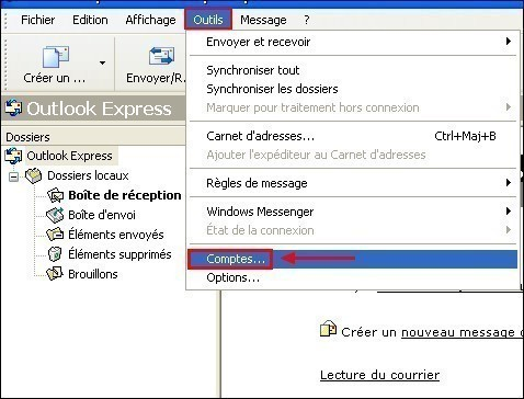 Configurer Outlook Express pour conserver une copie des messages recus 0