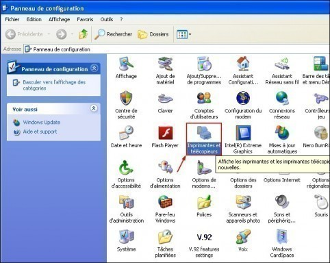 Definir une imprimante par defaut Windows XP 1