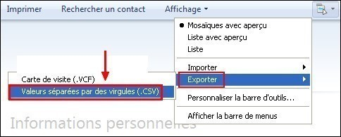 Exporter son carnet d adresses sous Windows Live Mail 2
