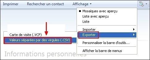 Exporter son carnet d adresses sous Windows Live Mail 2