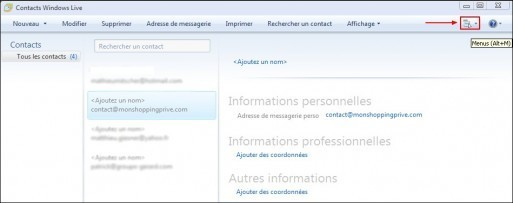 Exporter son carnet d adresses sous Windows Live Mail 1