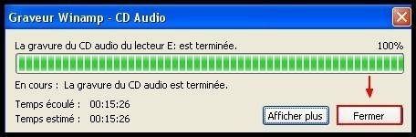 Graver des fichiers mp3 en CD audio avec Winamp 5