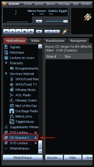Graver des fichiers mp3 en CD audio avec Winamp 0
