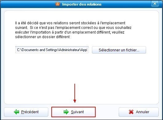 Importer les contacts de Outlook Express dans IncrediMail 2