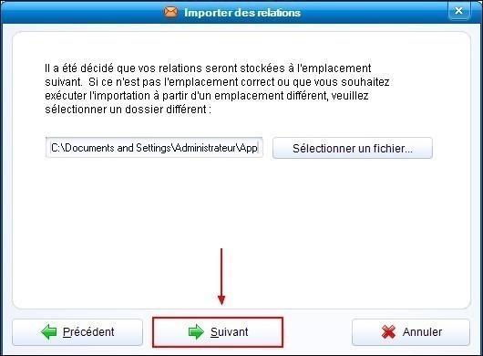 Importer les contacts de Outlook Express dans IncrediMail 2