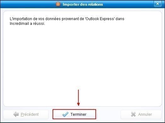 Importer les contacts de Outlook Express dans IncrediMail 3