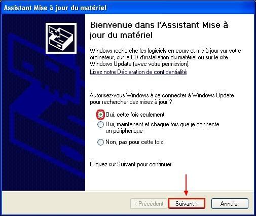 Mettre a jour un pilote carte reseau Windows XP 2