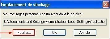 Modifier le dossier de stockage sous Windows Live Mail 3