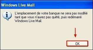 Modifier le dossier de stockage sous Windows Live Mail 6