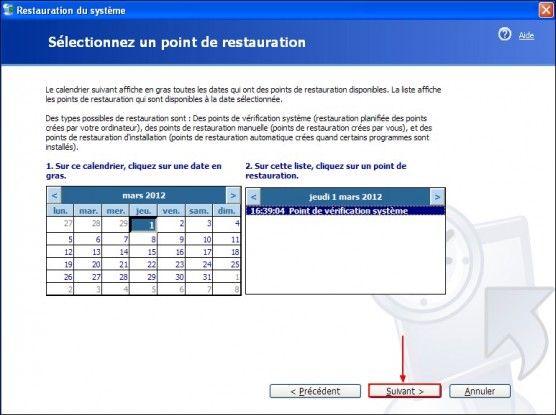 Restaurer le systeme Windows XP 2