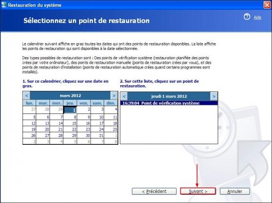 Restaurer le systeme Windows XP 2