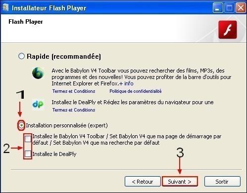 Telecharger et installer Adobe Flash Player 4