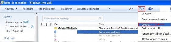 Windows Live Mail activer la signature des emails