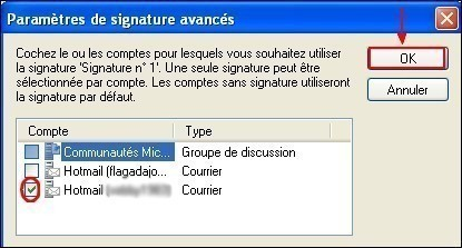 Windows Live Mail activer la signature des emails 2
