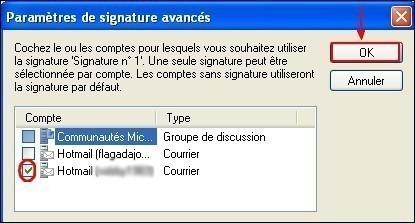 Windows Live Mail activer la signature des emails 2