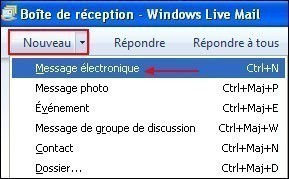 Windows Live Mail masquer les adresses email