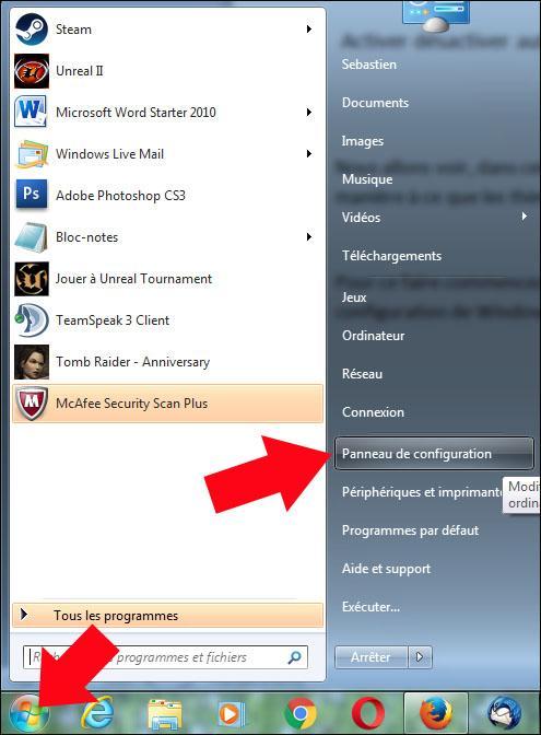 activer desactiver autoriser les themes a modifier la souris windows 7 1