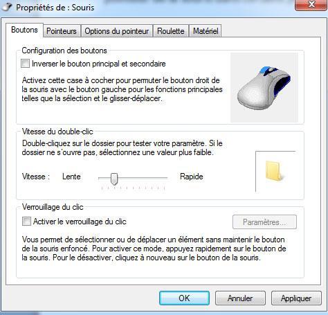 Activer désactiver autoriser les thèmes à modifier la souris Windows 7