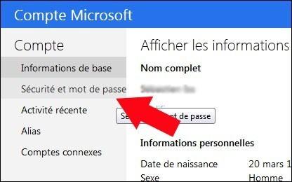 activer desactiver la double authentification windows live 1