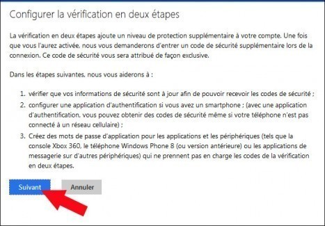 activer desactiver la double authentification windows live 3