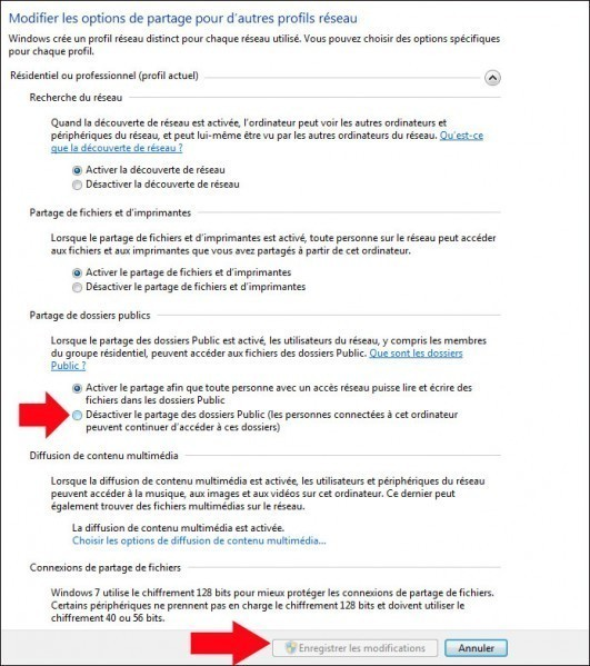 activer desactiver le partage du dossier public de windows 7 5
