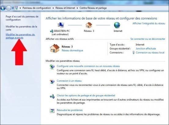 activer desactiver le partage du dossier public de windows 7 4