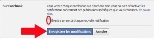 activer desactiver le son des notifications facebook 3