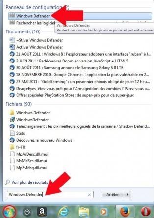 activer windows defender 1