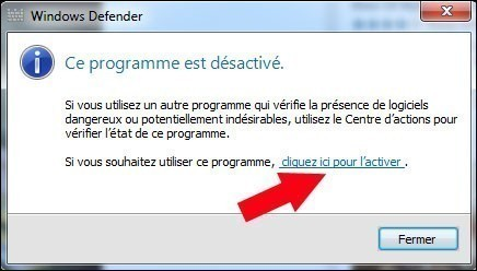 activer windows defender 2
