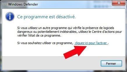 activer windows defender 2