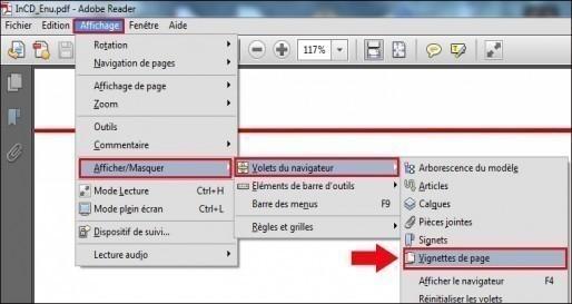 Affichage PDF miniature