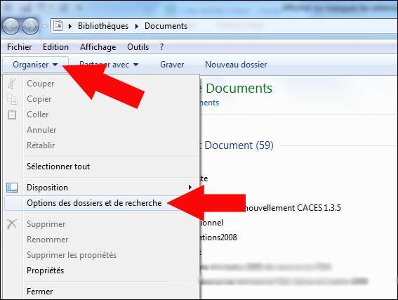 afficher ou masquer les extensions de fichiers sous windows seven 1