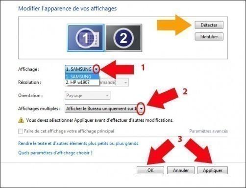 afficher son ecran pc sur une tv avec windows 7 2