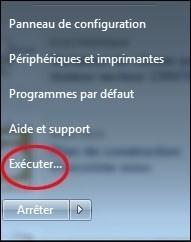 Ajouter la commande exécuter au menu démarrer de Windows 7