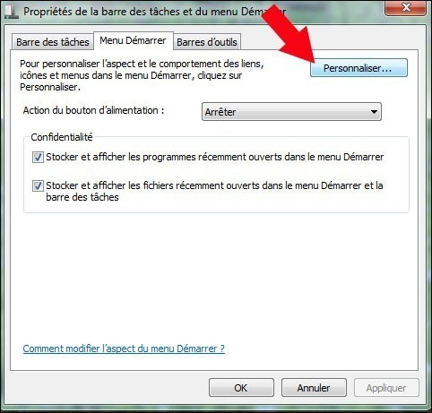 ajouter le dossier videos dans le menu demarrer windows 7 2