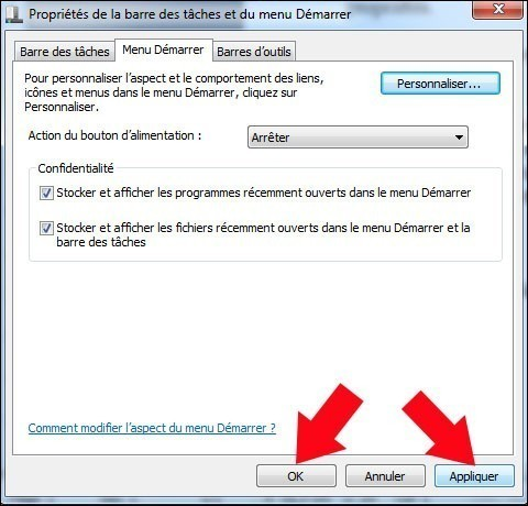 ajouter le dossier videos dans le menu demarrer windows 7 4