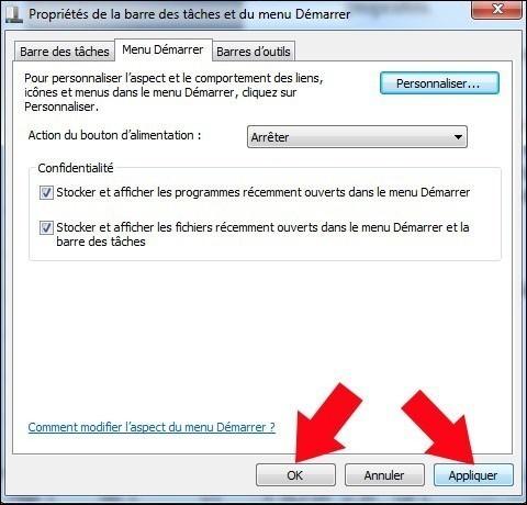 ajouter le dossier videos dans le menu demarrer windows 7 4
