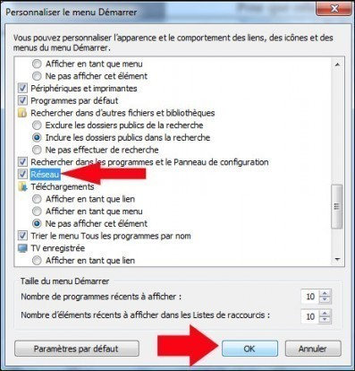 ajouter le reseau au menu demarrer windows 7 3