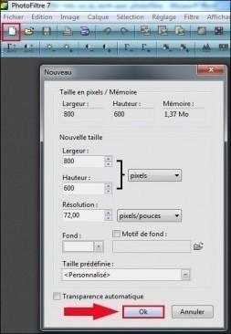 ajouter un effet halo a un texte avec photofiltre 1