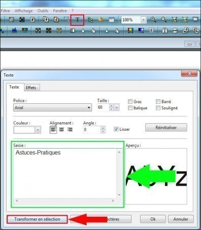 ajouter un effet halo a un texte avec photofiltre 2