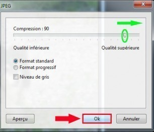 ameliorer la compression des images jpeg sous photofiltre 0