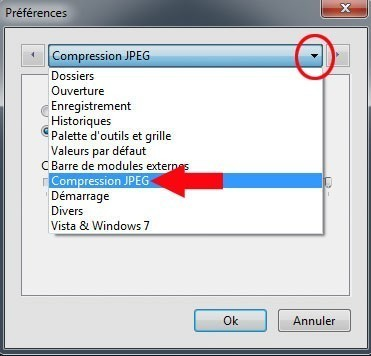 ameliorer la compression des images jpeg sous photofiltre 2