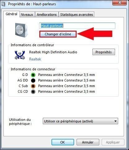 apparence des peripheriques audio windows 7 5