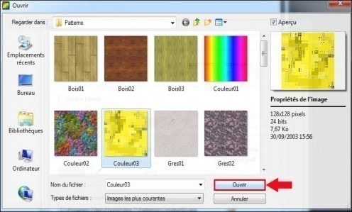 appliquer une texture a un texte avec photofiltre 5