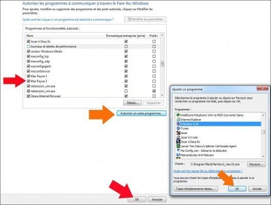autoriser un logiciel a traverser le pare feu windows 7 4