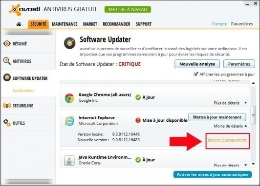 avast software updater 4