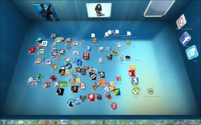 bureau en 3d sous windows 7 1