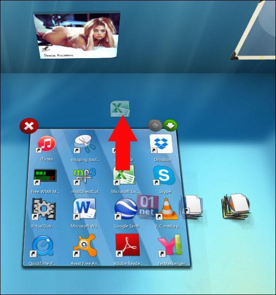 bureau en 3d sous windows 7 4