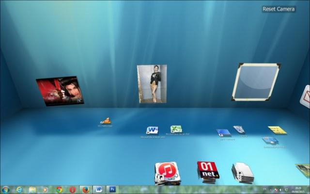 bureau en 3d sous windows 7 7